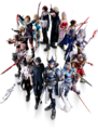 Dissidia Final Fantasy NT Main Heroes
