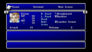 FFII PSP Equipment Menu