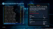 Shinra Combat Simulator menu from FFVII Remake