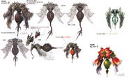 Vespid Enemy Art FFXIII
