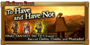 FFRK To Have and Have Not Event