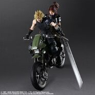 Cloud Jessie Motorcycle FF7R by Play Arts Kai