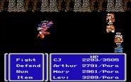 FFIII NES Paralyze Status