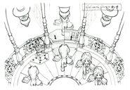 Lindblum Castle Lift FF9 Art 2