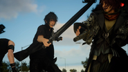 Noctis wields the Sword of the Wise in a Ch11 cut scene in FFXV