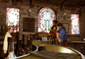 Raine tends to the pub from FFVIII Remastered
