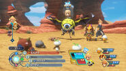 World of Final Fantasy Battle gameplay