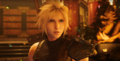 Cloud Strife at Wall Market in FFVII Remake