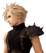 Cloud Strife from FFVII Remake bust render