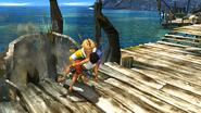 Tidus saving a girl