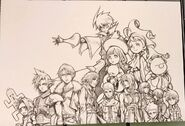 Tetsuya Nomura illustration for the Final Fantasy 30th Anniversary