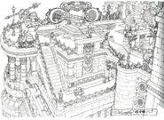 Lindblum Castle Airship Dock FF9 Art
