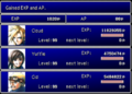 FFVII Level Up Screen