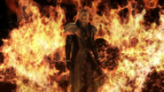 Sephiroth in flames