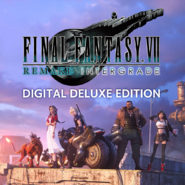 FFVII Remake Intergrade digital deluxe edition cover art for PS5