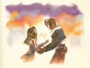 Rinoa and Squall watercolour Piano Collections cover FFVIII.png