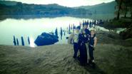 Aranea in a group photo in FFXV