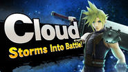 Cloud Smash Bros Splash Card