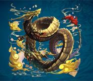 Morrow Gold Dragon from FFD2 Artwork