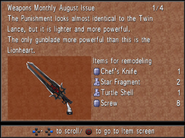 Weapons Monthly August Punishment from FFVIII R