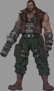 Barret from Final Fantasy VII Remake artwork
