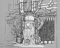 Mako Reactor Core artwork for FFVII Remake
