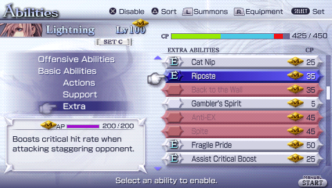 Dissidia 012 Final Fantasy abilities