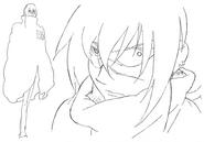 Kaze sketch 5 for Final Fantasy Unlimited