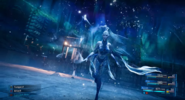 Shiva summoned in FFVII Remake