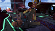 Rikku Kicks Brother