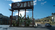 Longwythe Rest Area motel sign in FFXV