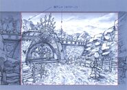 Aerbs Mountains North Gate Melda Arch FFIX Art