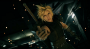 Cloud reaches out in FFVII Remake