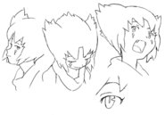 Lou closeup concept lines for Final Fantasy Unlimited