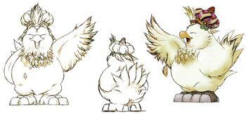 Illustration des Fetten Chocobo aus FFIX