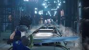 Final Fantasy VII Ever Crisis Zack auf einen Zug