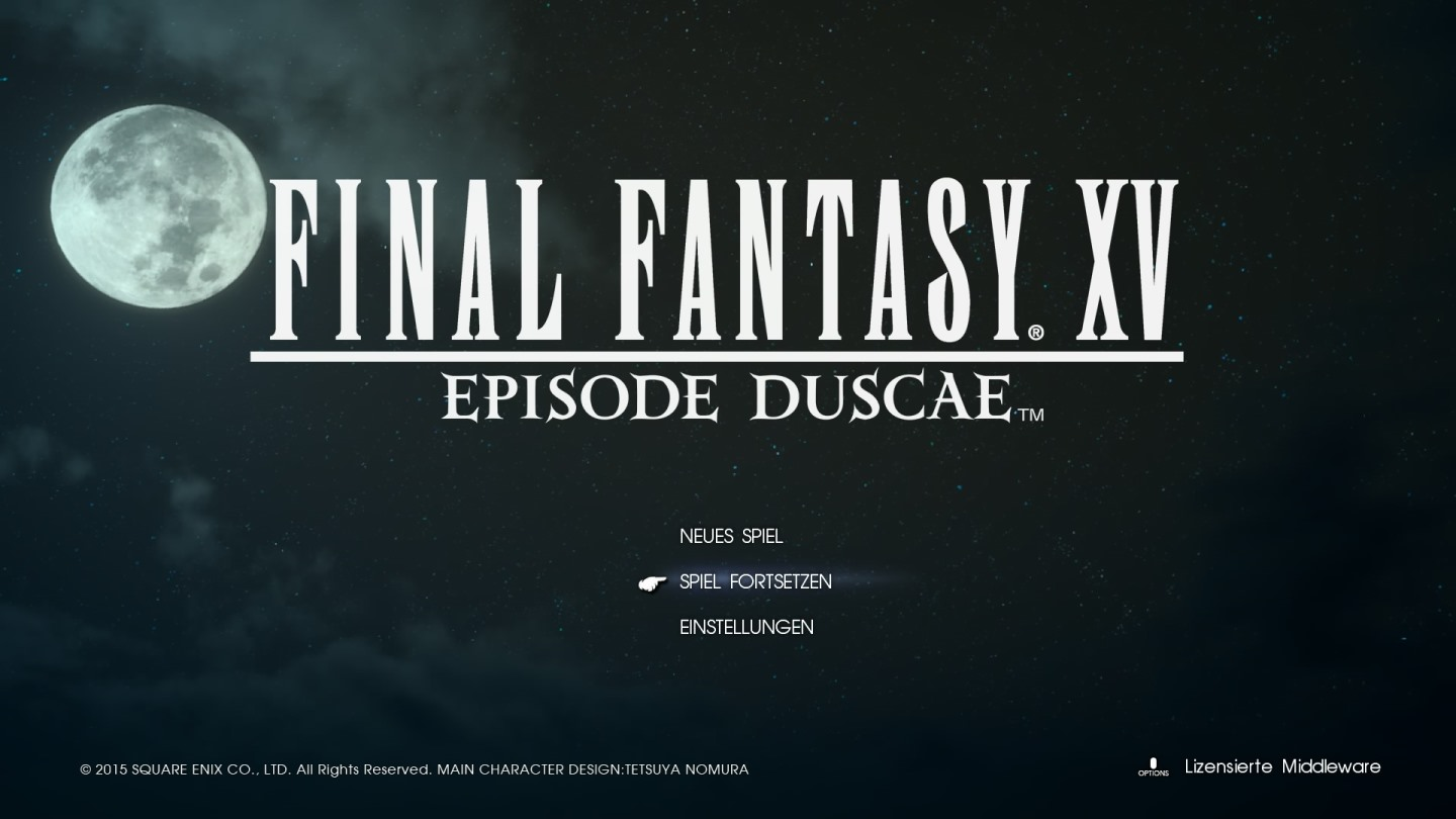 Final Fantasy XV: Episode Duscae