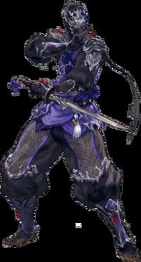 Artwork eines Hyuran als Ninja.