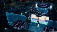 Tifa springt über die Kronleuchter Shinra Hauptquartier Lobby Final Fantasy VII Remake