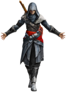 FFXIII-2 Noels Bonus-Kostüm Artwork von Ezio Auditore aus Assassins Creed
