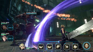 Final Fantasy VII Ever Crisis Cloud kämpft gegen Wachskorpion