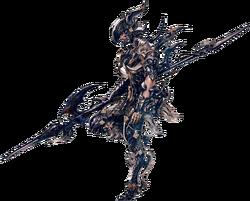 Artwork eines Elezen als Dragoon.
