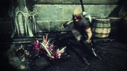 Protagonist tritt auf einen besiegten Gegner Stranger of Paradise Final Fantasy Origin