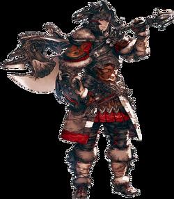 Artwork eines Hyuran als Krieger.
