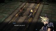 Final Fantasy VII Cloud und Barret sprechen im Reaktor 1