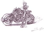 Cloud Strife Motorrad