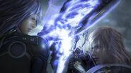 Lightning kämpft gegen Caius