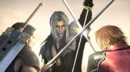 Final Fantasy Sephiroth vs Genesis and Angeal