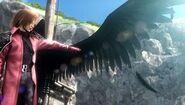 Genesis zeigt Zack seinen Flügel