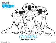 Otters coloring